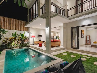Photo for 400 m to double 6 beach, central Seminyak, brand new villa with private pool