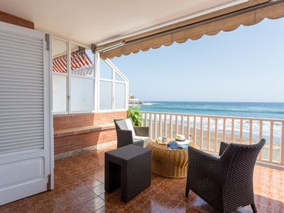 Photo for Apartment with terrace on the beachfront