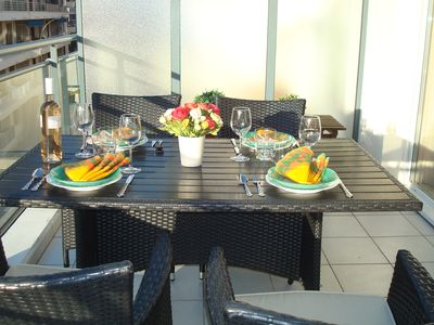 Photo for Lovely 3rd floor apt in Central Antibes with large sunny terrace, wifi, parking