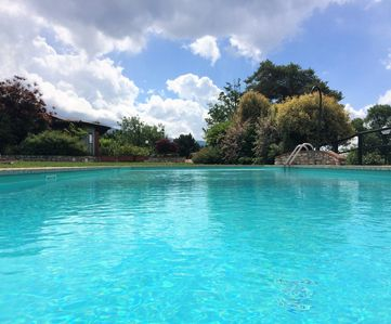 Photo for Rent holiday apartment with pool near the natural park on Lake Garda