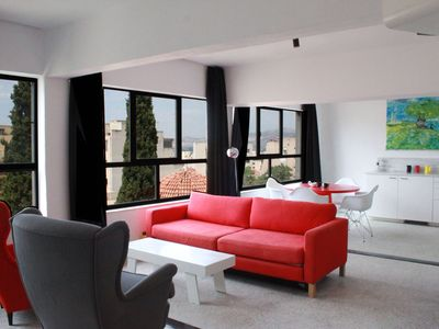 Photo for Artistic one bedroom apt. Great views from terrace. Sleeps 4. Free WiFi.