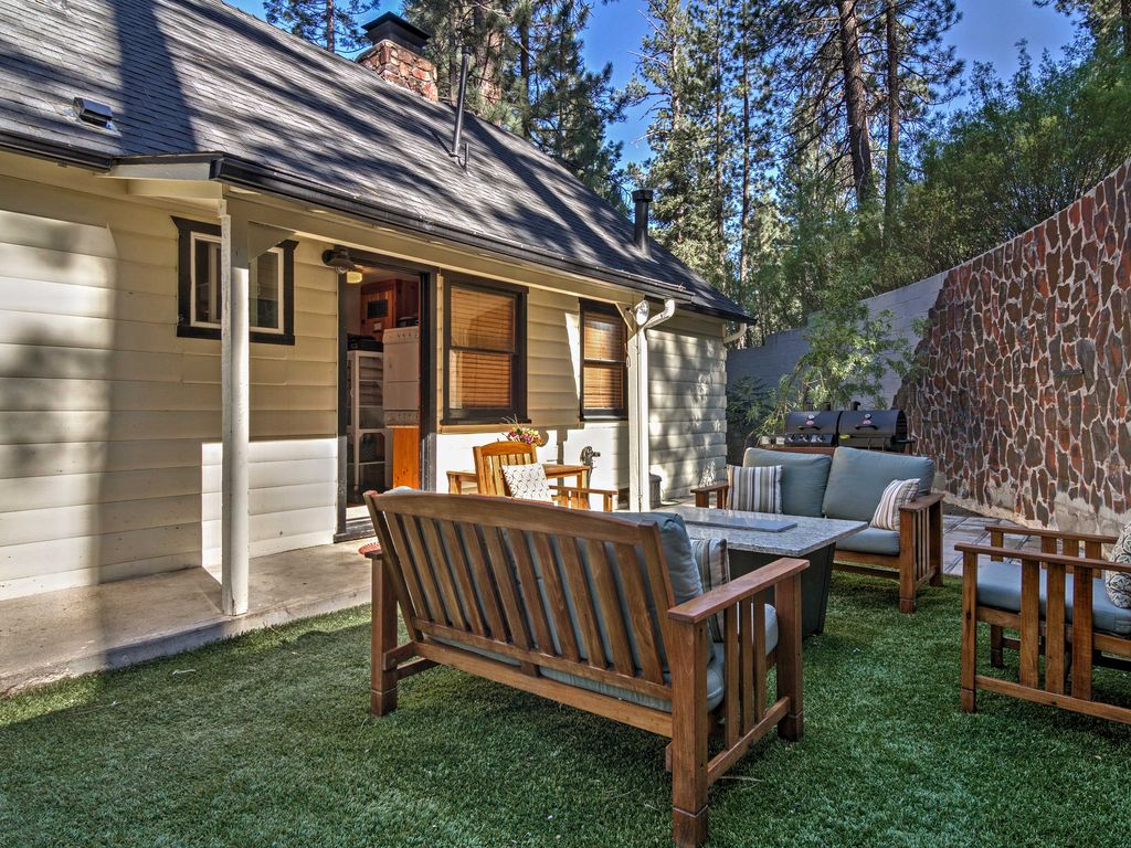 3br Big Bear Cabin W Private Hot Tub Sauna Fawnskin
