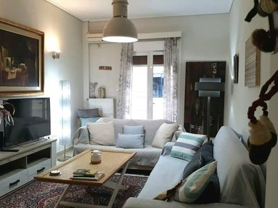 Photo for Apartment in Athens with Lift, Internet, Washing machine, Air conditioning (965642)