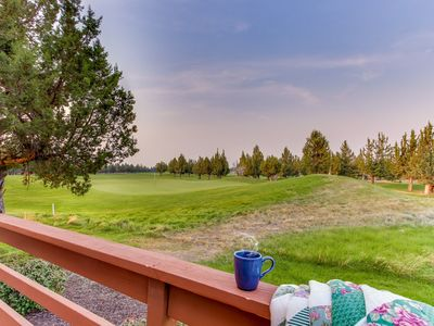 Photo for Amazing resort home w/golf course views & expansive deck + shared pool, hot tub