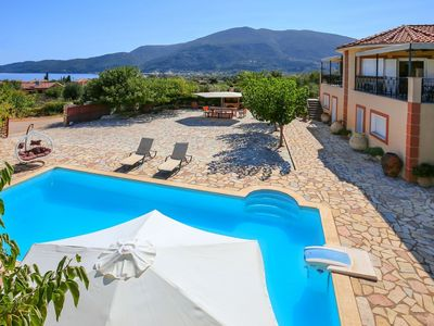 Photo for Villa Karavomylos is a traditional Cephalonian villa with a modern, village-chic twist, with sweepin
