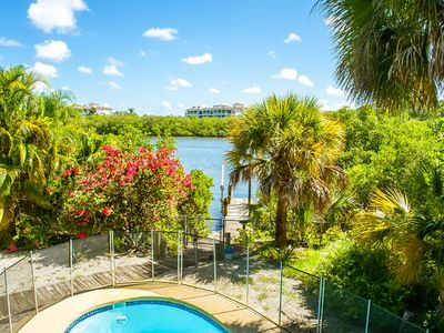 Photo for Island Waterfront Cottage With Pool/Hot Tub/Fishing Dock
