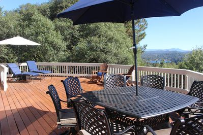 relax and enjoy the view of Pine Mountain Lake and the Sierras