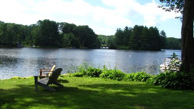 Waterfront Lake Home on Tranquil Harwinton Lake with spectacular 180⁰ view.