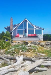 Welcome to our beach home! Enjoy the view sitting on comfortable deck furniture!