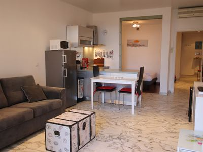 Photo for Eros: beautiful 1 bed flat, terrace, Promenade des Anglais