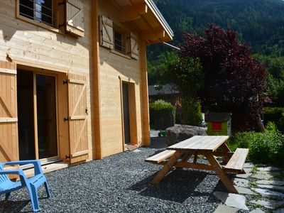 Photo for Half-Chalet Les Houches-Chamonix Mont Blanc, 2 bedrooms, private terrace