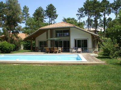 Photo for Luxury villa with private pool and garden, near Atlantic coast (2 km)