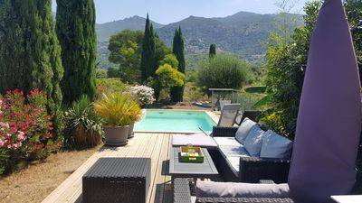 Photo for Villa 8 pers any comfort, private swimming pool in exceptional setting and relaxing