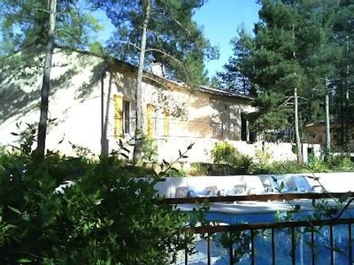 Photo for Detached house with swimming pool and mature Ardèche garden
