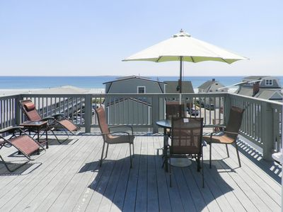 Photo for Charming home w/ rooftop patio and ocean views - close to the beach & pier!