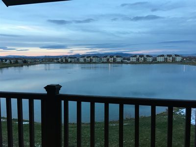 Photo for New Pet Friendly Water View Condo With Balcony and Mountain Views