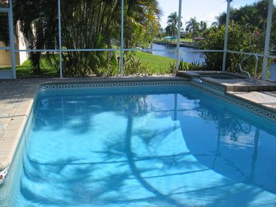 Photo for ❤️ Salt Water Heated Pool on Gulf Access Canal