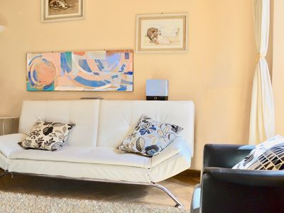Photo for Lovely apt in Lucca, great location, free parking lot, AC, 2 bedrooms, balcony.