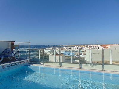 Photo for Cotillo Solarium Ocean Views apartment in El Cotillo with WiFi, shared terrace & lift.