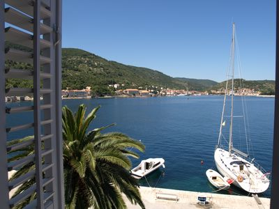 Photo for Luxury seafront villa, stunning sea & harbour views, on unspoilt island of Vis