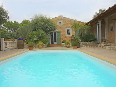 Photo for Attractive Holiday Home in Uchaux France With Private Pool