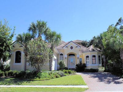 Photo for JUST 1000 FEET FROM THE BEACH THIS HOME IS COMFORTABLE, COZY, AND PERFECT! Full Update in early 2019, this 4 bedroom 4.5 bath with private pool and 6 seater golf cart is everything you need for a great beach vacation.
