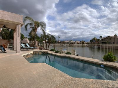 Photo for New listing Lakefront Luxury Pontoon Boat, Pool, close to Peoria Sports Complex
