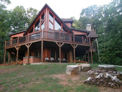 Great views year round, huge Deck on 3 sides-covered on 2 sides plus fireplace