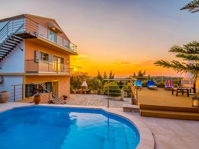 Photo for Villa Stephania: Private Pool, Walk to Beach, Sea Views, A/C, WiFi