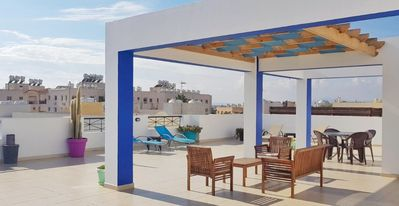Photo for Penthouse Apartment With Large Sun Soaked Veranda And Communal Swimming Pool