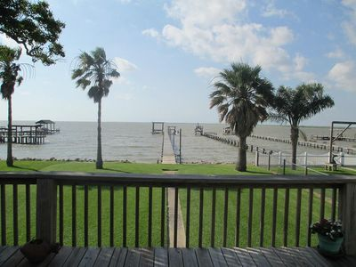 Photo for Waterfront Bay House With 350' Lighted Fishing Pier