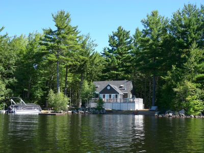 Secluded with excellent privacy and lots of waterfront.