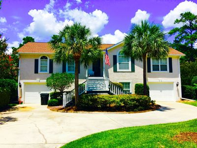 Photo for Beautiful upscale home close to the beach and pier. Golf cart!  FLETC