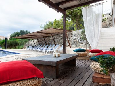 Photo for Spectacular house with pool at the foot of the Sierra de Tramuntana.