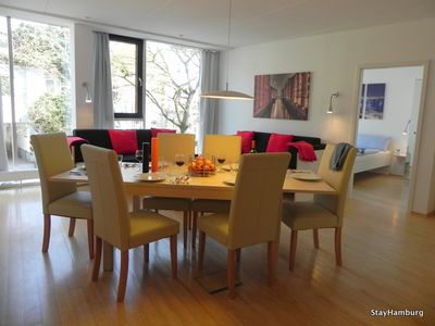 Photo for 3-bedroom flat: Elbspeicher II - modern flat, sleeps up to 8, Wi-Fi
