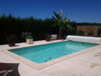 Photo for HOUSE ON ONE LEVEL HEATED POOL, QUIET AND NEAR BEACHES