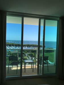 Photo for Luxury King Studio with Ocean View Private Balcony- Historic Coconut Grove!