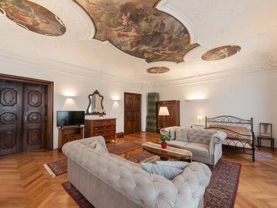 Photo for Baroque appartment with wall paiting directly in city with a balcony