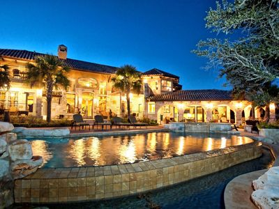 Photo for NEW!! Lake Travis Waterfront, Resort-Style Pool & Spa, Fire Pit, 50' Boat slip!