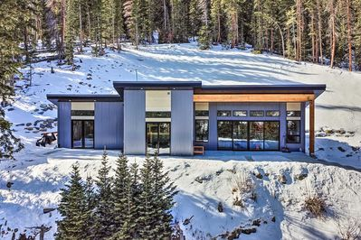 This home is located on a hillside overlooking the incredible Rocky Mountains!