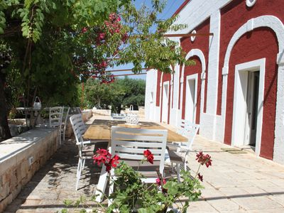 Photo for calm and relaxing massage masseria with swimming pool in the middle of olive trees