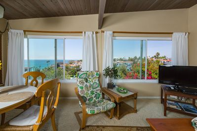 Four  huge windows with breeze and views