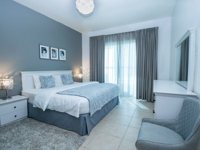 Photo for MODERN 1-Bedroom Apt. in LUXURY tower, GREAT location in DUBAI MARINA
