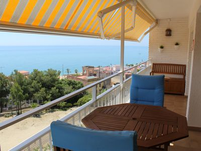 Photo for CANET DE MAR APARTMENT WITH POOL AND SEA