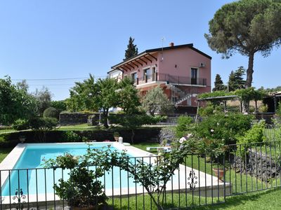 Photo for Luxury Sicilian Villa with Large Pool, Vineyard and Views of the Sea and Mt.Etna