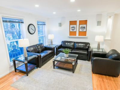 Photo for Sleeps 10 - 3 Bedroom - 2.5 Bath - 5 Beds - BBQ - Deck - Just 7 Minutes to NYC 222.2