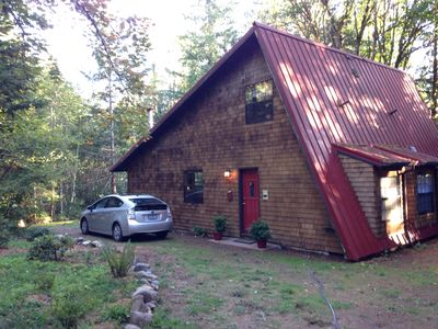 Photo for Lovely Cedar Cabin In The Woods Close To Golfing, Hiking, Swimming, Fishing