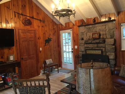 Cozy lake house with all the amenities.  Across from lake with with great views.