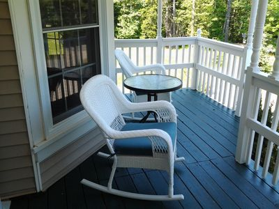 Porch rockers & table: a nice breakfast or reading spot