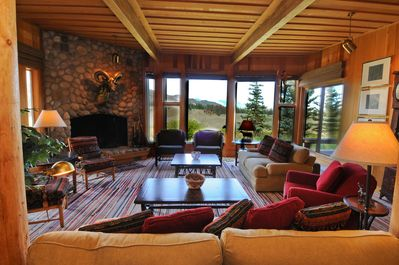 Or spread out for quiet conversation by the fire,